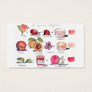 Macaron Aromen durch Carol Gillott Visitenkarte