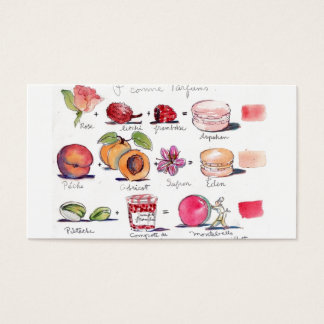 Macaron Aromen durch Carol Gillott Visitenkarten