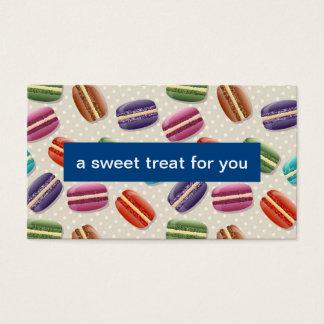 Macarons   Bäckerei-Empfehlungs-Karte Visitenkarten