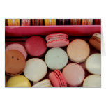 Macarons in den verschiedenen Farben Karten