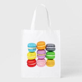 Macarons Tasche Wiederverwendbare Einkaufstaschen