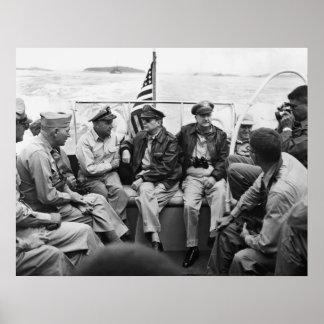 MacArthur und seine Generäle Poster