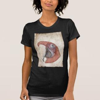 Macaw-Papageien-Antiken-Art-Skizze T-Shirt