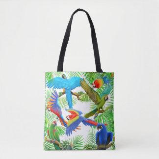 Macaw-Papageien-Dschungel ganz über Taschen-Tasche Tasche