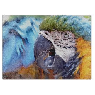 Macaw-Papageien-Vogel-Tier-wild lebende Tiere Schneidebrett