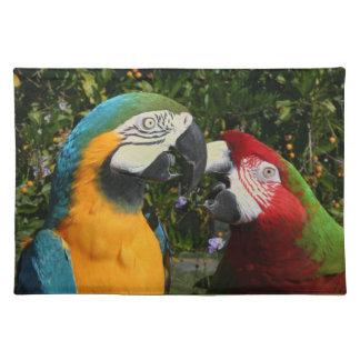 Macaw-Papageien-Vogel-Tier-wild lebende Tiere Tischset