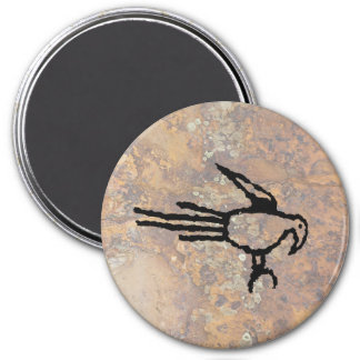 Macaw-Petroglyphe, Boca Negra Schlucht, New Mexiko Runder Magnet 7,6 Cm
