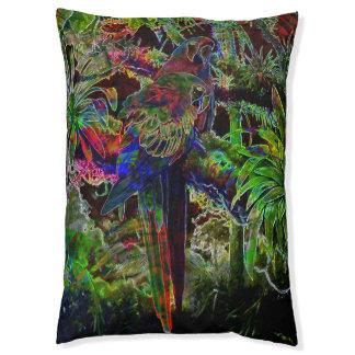Macaws im tropischen Paradies nachts Haustierbett