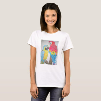 Macaws-Papageien Watercolor T - Shirt