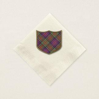 Macdonald Clanranalld karierten schottischen Papierserviette
