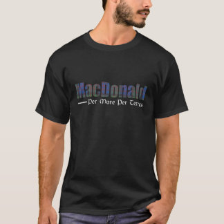 MacDonald schottisches Clantartan-Namen-Motto T-Shirt