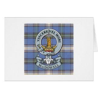 MacDowall Wappen + Tartan-Gruß-Karte Karte
