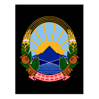 Macedonia-Emblem Postkarte