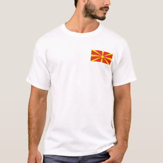Macedonia-Flagge und Karten-T - Shirt