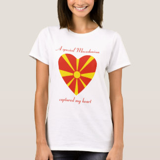 Macedonia-Flaggen-Schatz-T - Shirt