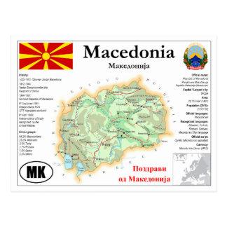 Macedonia Map Postcard Postkarte
