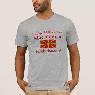 Macedonian errichtet Charakter T-Shirt