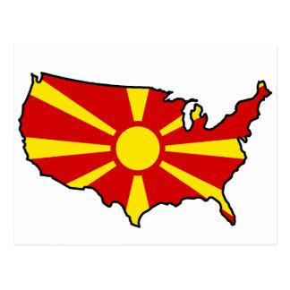 Macedonian in USA Postkarte