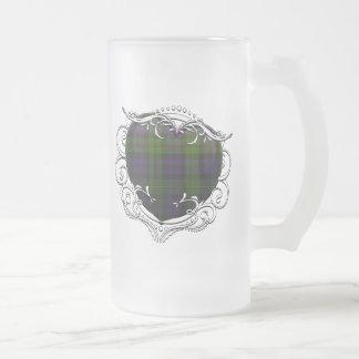 MacEwen Tartan-Herz Mattglas Bierglas