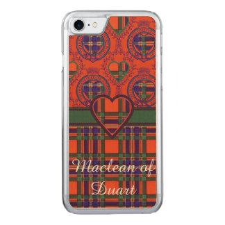 Macfarlane Clan karierter schottischer Tartan Carved iPhone 8/7 Hülle