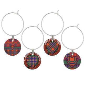 Macfarlane Clan karierter schottischer Tartan Glasmarker