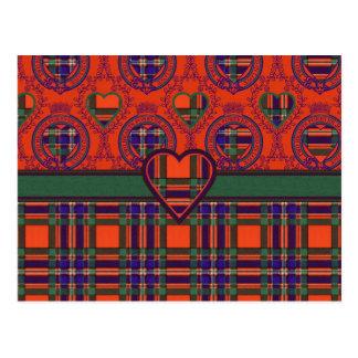 Macfarlane Scottish Tartan Postkarte