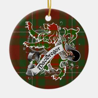 MacGregor Tartan-Löwe Keramik Ornament