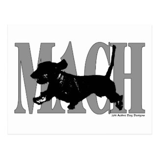 MACH Dachsund Postkarte
