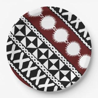 Mach-/Fahrtenmesser Stripes Platte Pappteller