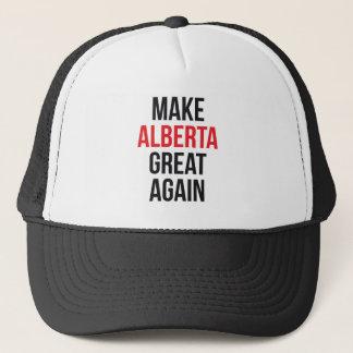 Machen Sie Alberta großes wieder erstes Flagge Truckerkappe
