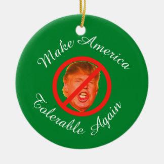 Machen Sie Amerika erträgliches wieder Keramik Ornament