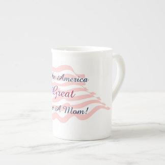 Machen Sie Amerika groß - stellen Sie eine Mamma Porzellantasse