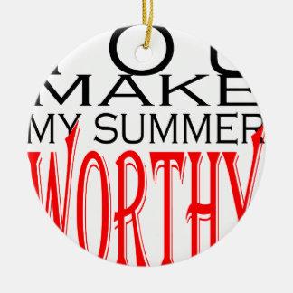 machen Sie angemessenen Flirt des Sommers Keramik Ornament
