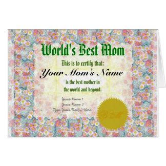 Machen Sie bestes die Mamma-Zertifikat einer Welt Karte