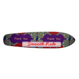 MACHEN Sie danke glatt: Editable Text ersetzen 20,1 Cm Skateboard Deck