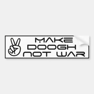 Machen Sie Doogh nicht Krieg Autoaufkleber