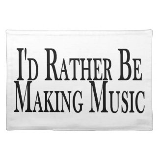Machen Sie eher Musik Stofftischset