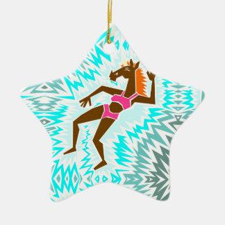 Machen Sie ein Spritzen-Einhorn Keramik Stern-Ornament