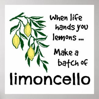 Machen Sie eine Reihe von Limoncello Poster