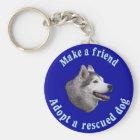 Machen Sie einen Freund - sibirischen Husky Schlüsselanhänger