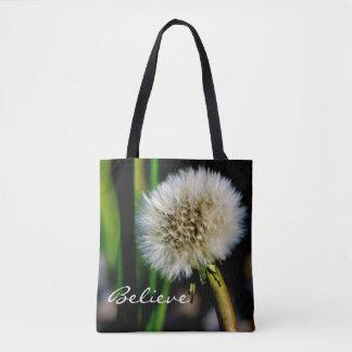 Machen Sie einen Wunsch personalisiert, glauben Tasche