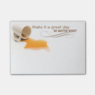 Machen Sie es einen großen Tag egal was klebrige Post-it Klebezettel