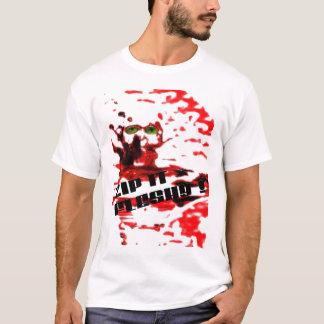 Machen Sie es fleischig Reißverschluss zu T-Shirt