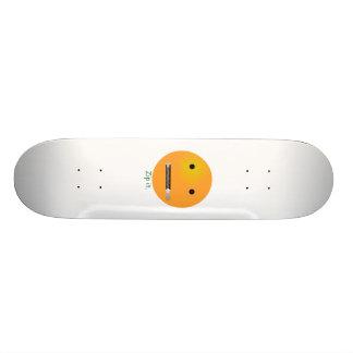 Machen Sie es SmileyEmoticon Reißverschluss zu Skateboard Deck