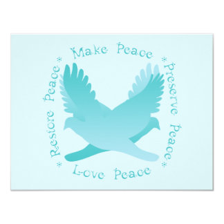 Machen Sie Frieden, stellen Sie Frieden, Konserve, 10,8 X 14 Cm Einladungskarte