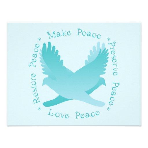 Machen Sie Frieden, stellen Sie Frieden, Konserve, Ankündigungskarten