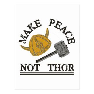 Machen Sie Friedensnicht Thor Postkarte