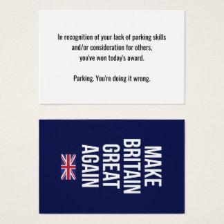 Machen Sie Großbritannien große wieder Flagge Visitenkarte