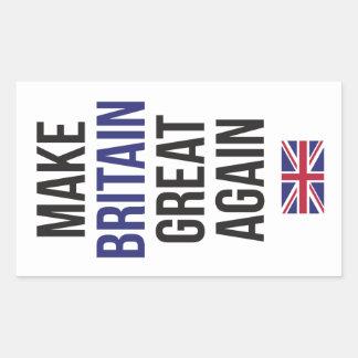 Machen Sie Großbritannien großes wieder #Brexit Rechteckiger Aufkleber