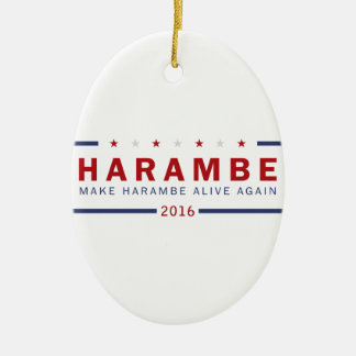 Machen Sie Harambe lebendig wieder Keramik Ornament